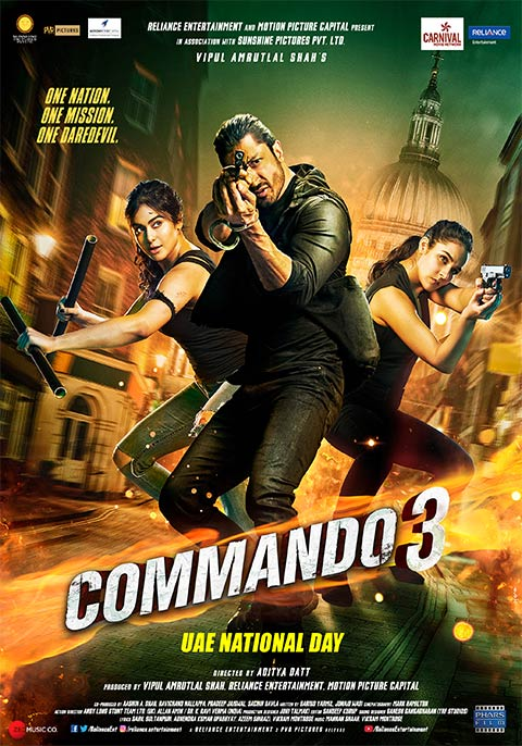 Watch Free Vodly Movies Download: Commando 3 (2019) Hindi Movie Watch Online HD Print Free